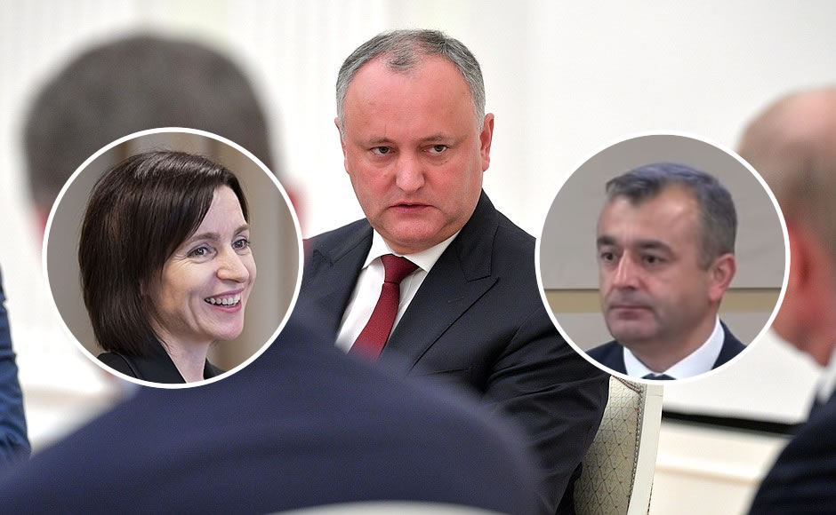 Igor Dodon, Maia Sandu and Ion Chicu